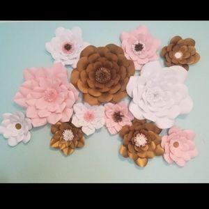 Handmade Paper Wall Flowers